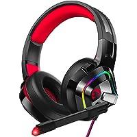 ZIUMIER 游戏耳机,适用于 PS4、Xbox One、PC、Nintendo Switch、降噪头戴式耳机,带麦克…
