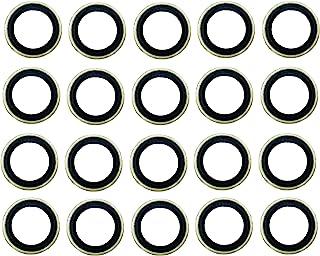 20 件 24.7x13.5 毫米金属/橡胶排水插头垫圈,适合 1/2Do, 9/16, M14 替换 097-025,65269, 097-828CD, E0FZ-6734-A, E3DZ-6734-A, E9DZ-6734-B,F,F,F,...