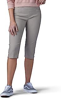 LEE 女士塑形修身套穿式开衩下摆浅口裤