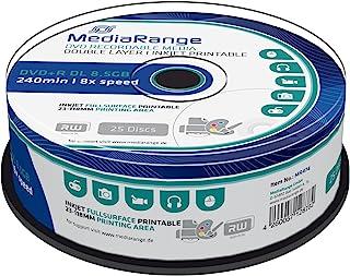 MediaRange MR474 DVD+R 双层8.5 GB(8 x Speed,可打印 25 件)