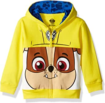Paw Patrol Toddler Boys' Rubble Big Face Costume Zip-up Hoodie