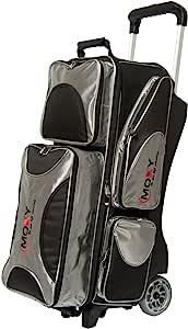 Moxy 保龄球产品豪华三滚筒保龄球包 - 银色/黑色