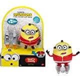 Mattel Minions:Gru Loud N' Rowdy Otto 会说话的动作公仔与功夫火箭滑冰玩具,儿童礼物…