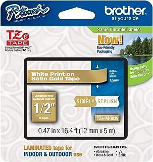 Brother PTouch 1.27cm 层压 TZe 胶带型号 TZE-MQ835