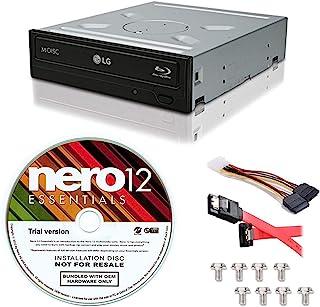 LG WH16NS40 16X 蓝光 BD/BDXL/MD M-DISC 刻录机驱动器 3D 播放 + 免费 Nero 12 Essentials 燃烧软件 + 萨塔电缆套件