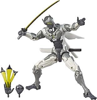 Hasbro 孩之宝 Ultimates Series 守望先锋源氏(Chrome)皮肤6英寸(约15.24厘米)比例收藏级可动人物模型及配件-暴雪视频游戏角色