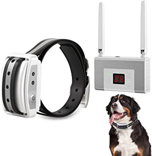 FOCUSER 电动无线狗狗围栏系统,宠物控制系统适用于狗狗和宠物,带防水可充电训练项圈接收器