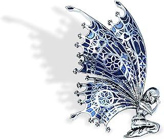 YYBONNIE 复古守护天使珠宝金色水晶飞天使翅膀胸针婚礼花束翻领别针首饰适合女士女孩