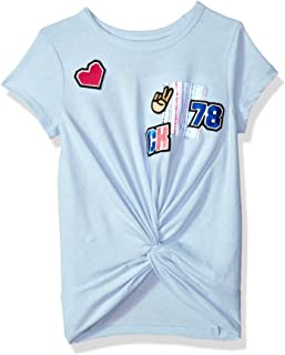 Calvin Klein 女童 Calvin 图案 t 恤