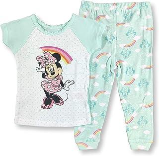 Minnie Mouse 睡衣 2 件套 Snug-Fit 彩虹米妮睡衣套装 适合女婴