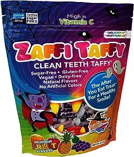 Zollipops Halloween Clean Teeth Taffy, Natural Fruit, 10 Ounce