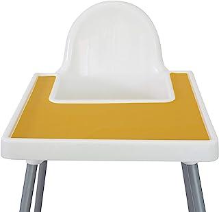 Mango Co. IKEA 宜家防滴婴儿高脚椅高脚椅餐垫 - 不含双酚 A,洗碗机适用,硅胶餐垫 - 幼儿和婴儿手指食品餐垫(*黄)