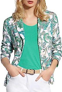 Basler 女式佩斯利印花三粒扣西装外套,白色/*多色 8