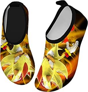 SILITHUS Mari0 & So-Nic 刺猬涉水鞋速干赤脚运动水上运动鞋轻便运动鞋适合男孩女孩