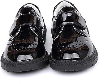 DADAWEN 男孩女孩经典校服舒适牛津正装鞋乐福鞋平底鞋(幼儿/小童/大童)
