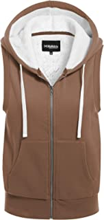 MixMatchy 女式羊羔绒衬里拉链舒适夹克和背心