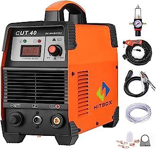 HITBOX 40Amp 等离子切割机 220V 空气等离子切割机 DC 逆变切割机 - 60% 占空循环 各种钢清洁切割机 IGBT 技术 (CUT40)