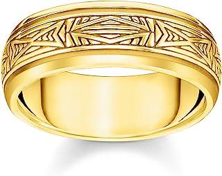 THOMAS SABO 中性戒指装饰金 925 纯银,750 黄金镀金 TR2277-413-39