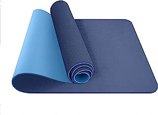 ComFyMat 瑜伽垫 – 防滑高级 TPE 瑜伽垫 [附赠防水便携袋] – 环*身垫 适用于普拉提、冥想、女士、男士 – 健身锻炼垫,183 厘米 x 61 厘米 x 6 毫米