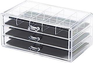 Compactor 3 抽屉首饰收纳盒,透明,大号