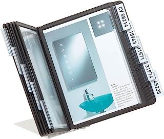 Durable 杜拉宝 550601 桌面视图面板系统 (Vario Table 10 , 带 10 个A5 ) 黑色