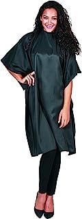 Betty Dain 经典剪裁/造型斗篷,时尚,轻质彩虹面料,防水,可机洗尼龙,经久耐用,扣颈,黑色,45 英寸宽 x 60 英寸长