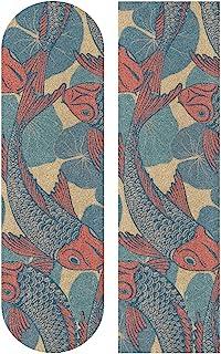 senya Galaxy 鲨鱼迷彩骷髅日本锦鲤哈巴狗恐龙美国国旗滑板手柄胶带纸砂纸贴纸防滑