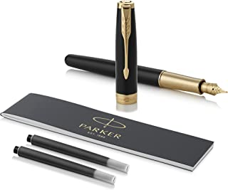 PARKER 派克 Sonnet黑色漆钢笔,优质笔尖,黑色墨水