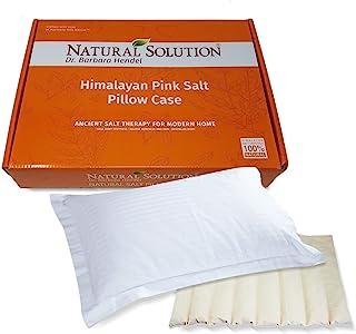 Natural Solution 5069B 喜马拉雅粉盐按摩枕头,大号,白色