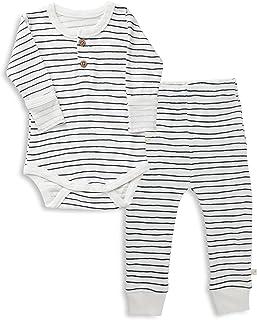 MakeMake Organics *棉婴儿幼儿睡衣套装上衣裤子男孩女孩中性睡衣