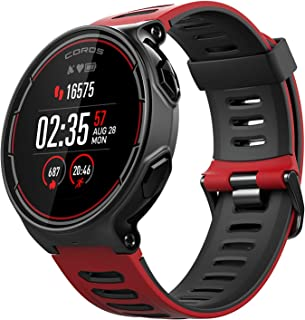 Coros PACE GPS 运动手表带腕带心率监测 – 包括跑步、骑自行车、游泳和铁人三项功能。 Barometric Altimeter, Strava 兼容 均码 红色 WPACE-RED-Red-One Size
