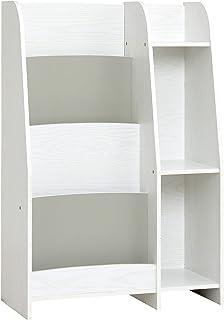 Smart -i 儿童书架 木白/灰色 W60 × D29 × H90cm 宽60cm 图画书架 LOG(日语) 1088177b