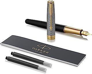 Parker 派克 Sonnet 钢笔 | 镶有金边的凿银 | 细笔尖 | 礼品盒