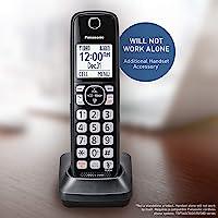 Panasonic 可伸缩无绳电话带电话屏和应答机 可选附加听筒 黑色