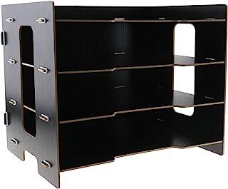 桌面文件分类整理器,33x27x24 厘米木质托盘,办公室,家庭,学校,学校,学校,学校,学校,学校,黑色