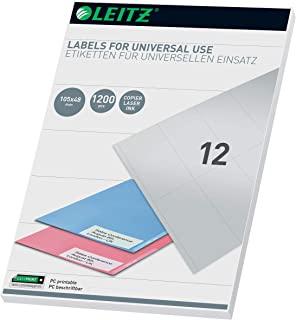 Leitz 61760001 通用型 PC Labels 105 x 48 mm 白色