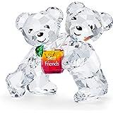 "Swarovski 施华洛世奇 Kris 熊雕像,令人惊叹的施华洛世奇水晶""Best Friends""动物收藏品"