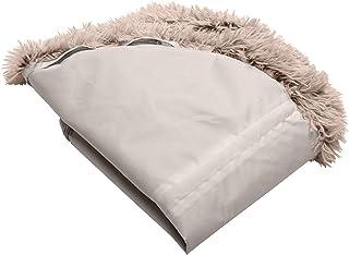 Furhaven 宠物床套 - 长毛绒人造毛皮圆形超*深盘垫可水洗甜圈狗床套,灰褐色,特大号 (XL)