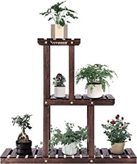 VIVOSUN 3 层木质植物架高低架子花架展示室内室外花园草坪露台浴室办公室客厅阳台