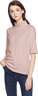 [Seshiel]防紫外线宽松领T恤(五分袖)(棉*)女士