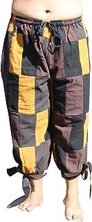 Svenine 文艺复兴时期拼接保暖棉质扎腿拉线裤
