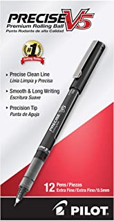 PILOT 百乐 Precise V5 圆珠笔,特细,黑色墨水,12支(35334)