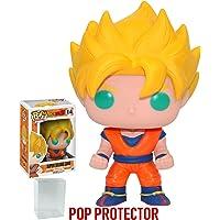 Funko POP! 动漫:龙珠 Z - *赛亚人悟空乙烯树脂人形玩具(附赠 Pop BOX 保护套)