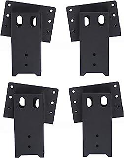 ADLER 多功能户外 4x4 复合角度平台支架适用于鹿架狩猎百叶窗射击屋,树屋,观察台,4 件套,4 x 7.5 x 9 英寸,黑色