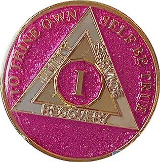Ranger Industries 1 年 AA *章金属粉紫红色闪光亮片亮片筹码
