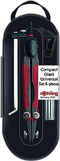 rOtring 676560 Compact 大型通用圆规套装 带笔芯罐