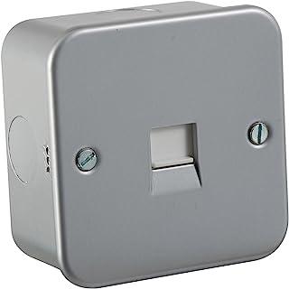 Knightsbridge TLHW60F 金属镀层电话主插座,230 V,银色