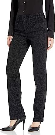 NYDJ 女式 Marilyn 直筒裤,配双按扣腰带