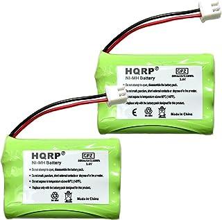 HQRP 2 件装电池适用于 Tri-tronics 1038100 1107000 CM-TR103 1038100-D 1038100-E 1038100-F 1038100-G 替换遥控狗训练项圈接收器