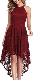 MISSJOY 女式复古拼接半袖口袋修身喇叭裙